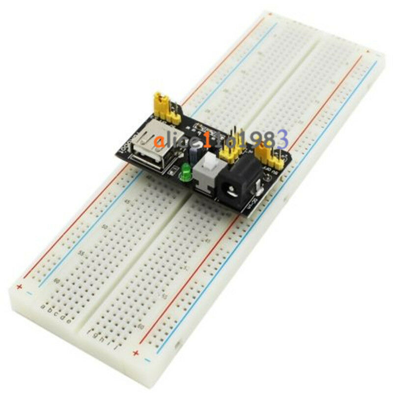 Mb breadboard power supply module v arduino board