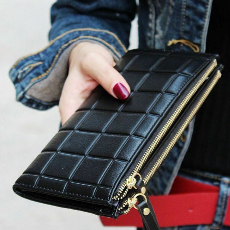 Fashion Long Women Wallet Female Clutch With Double Zipper C