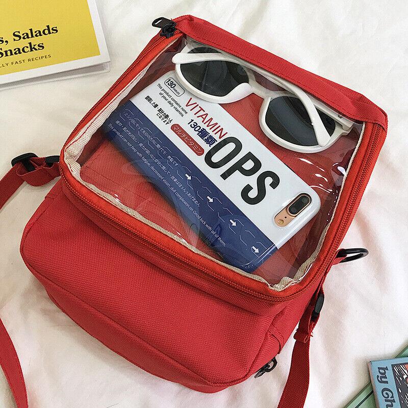 Girls Ita Bag DIY Transparent Backpack Kawaii Harajuku Schoo