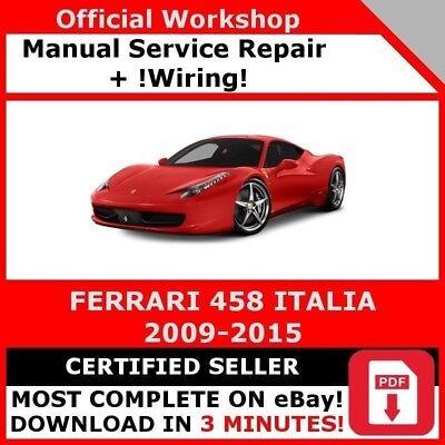 FACTORY WORKSHOP SERVICE REPAIR MANUAL FERRARI 458 ITALIA 2009-2015 WIRING