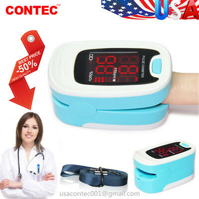Usa Fingertip Blood Oxygen Meter Spo2 Sensor Pulse Heart Rate Monitor Patient O2