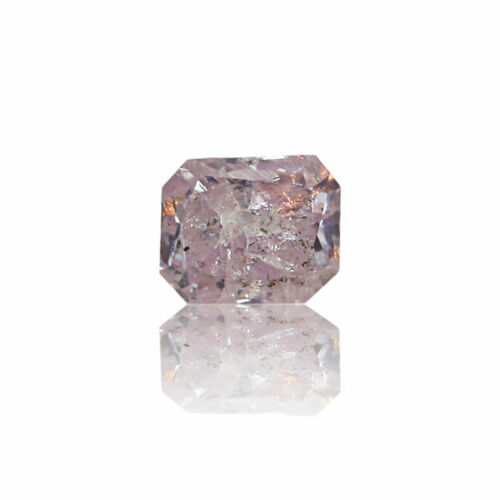 Pink Diamond Natural 0 .13 Ct Fancy GIA Certified Purple Color Radiant Cut Real