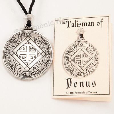 TALISMAN of VENUS Magic Pentacle Solomon Seal Pendant Necklace Love -
