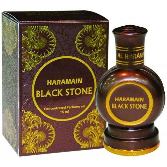 Black Stone 15ml Unisex perfume oil by Al Haramain - Woody, Sandal, Musk