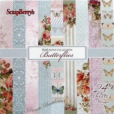 ScrapBerry's Design Papier Butterflies 15x15 cm Paper Pad 614 - 6 x 6 inch