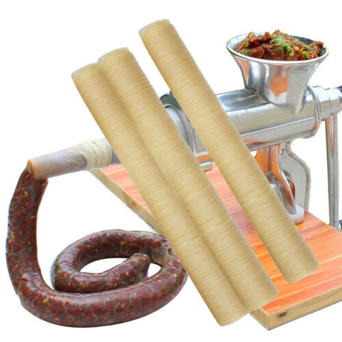 14m Natural Sheep Sausage Casings Skins 26mm Long Small Breakfast Sausages Tools