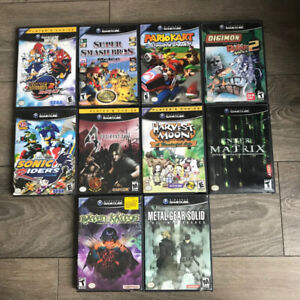 Gamecube games / controller / power adapter memory card for sale