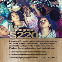 Party Photography $220 for 2-Hours