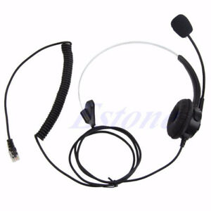 4-Pin RJ11 Corded Telephone Headset