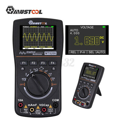 Mustool Mt8208 Hd Color Intelligent Graphical Digital Oscilloscope Multimeter