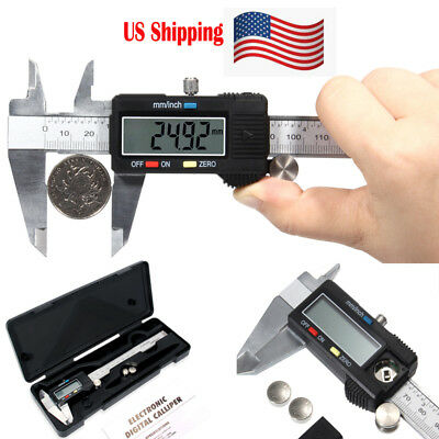 (Digital Electronic Gauge Stainless Steel Vernier 150mm 6inch Caliper Micrometer)