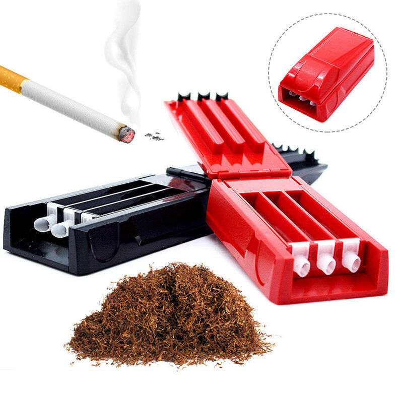 Handy Manual Triple Cigarette Tube Injector Tobacco Roller Maker Machine