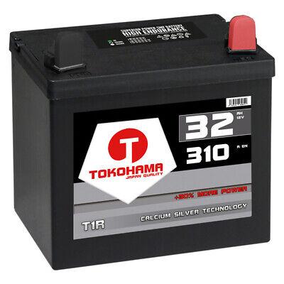 Rasentraktor Batterie 12V 32Ah 310A +Pol Rechts Aufsitzmäher TOTAL WARTUNGSFREI ()