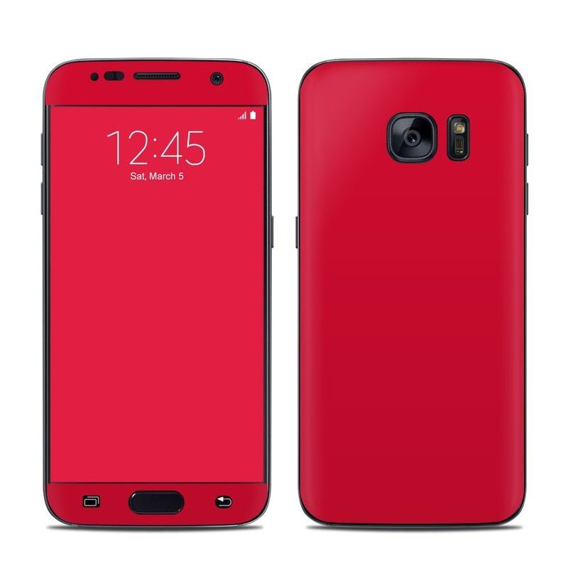 Galaxy S7 Skin - Solid Red - Sticker Decal
