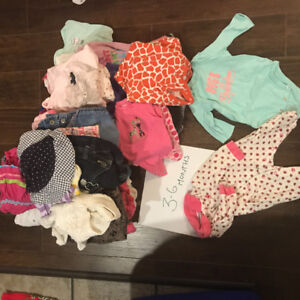 Baby girl sized 3-6 month clothing
