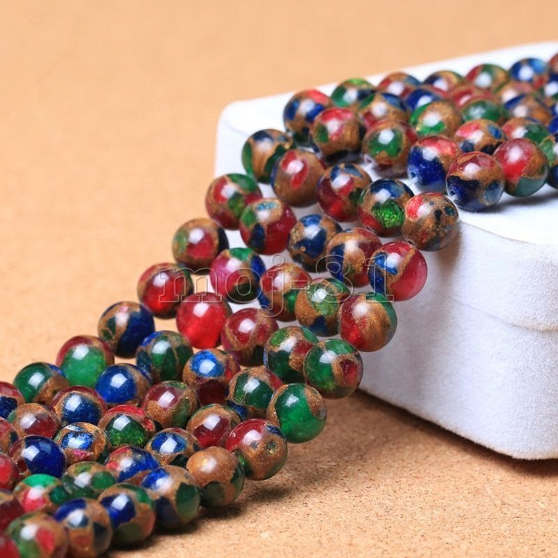 10mm Natural Ruby Sapphire Emerald in Quartz with Pyrite Round Loose Beads 15/'/'