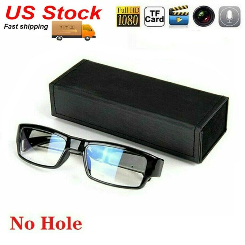 1080P HD 30fps Glasses Spy Hidden No Hole DVR Camera Recorder Eyewear Camcorder