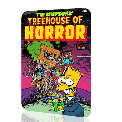 METAL TIN SIGN The Simpsons Treehouse of Horror Comic Cover Poster Rusted DECOR