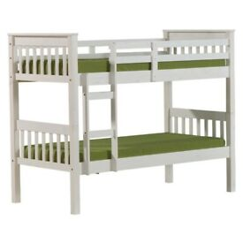 BEST SELLING BRAND- BRAND NEW Bunk Bed 3FT Wood Wooden Frame Children Sleeper Mattress Single New