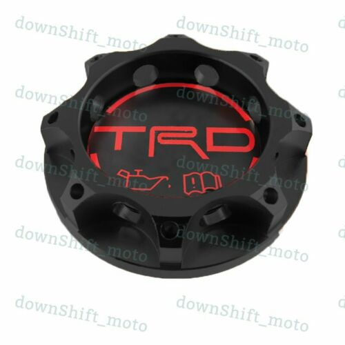 TRD Racing Black Engine Oil Filler Cap Oil Tank Cover Aluminium For All TOYOTA