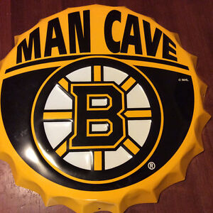 Boston Bruins 'Man Cave' Bottle Cap Sign