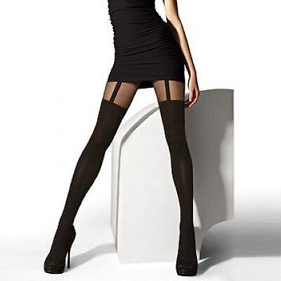 New Fashion Women Temptation Sheer Mock Suspender Tights Pantyhose Stockings