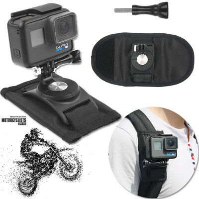 Riding Backpack Mount Bracket Holder For GoPro Hero 4 5 6 Accessory Camera