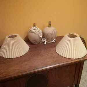 Two Pottery TABLE LAMPS by Beth Barry with SHADES Kitchener / Waterloo Kitchener Area image 2