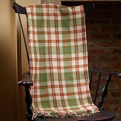 Woven Throw Blanket 50x60 Country House Collection Warm Spice Cabin Lodge NEW Pk