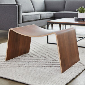 Walnut Wave Stool by Gus Modern - Excellent Condition