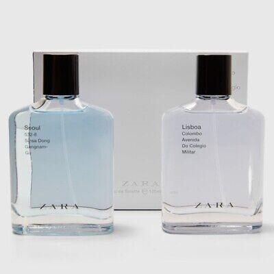 ZARA SEOUL + LISBOA SET for MEN * 2 x 3.4 oz (100ml) EDT Spray NEW & SEALED