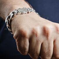 Pulsera De Plata Para Hombre Con Cool Figaro Enlaces X 15mm Ancho - Maciza Ley -  - ebay.es