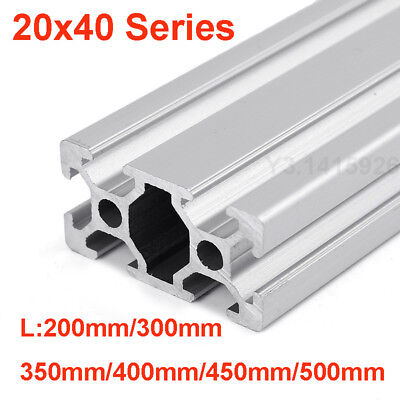 20x40Series T-Slot 6mm Aluminum Extrusion Profile Rail 500mm For CNC 3D Printer