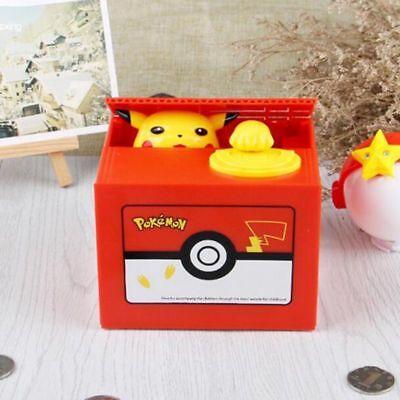 Pikachu Gifts (Pokemon Go Pikachu Coin Bank Moving Electronic Money Piggy Bank Box Xmas)