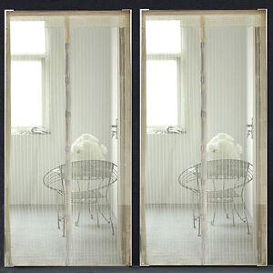 Mesh hands free screen door single sliding net doors anti for Single sliding screen door