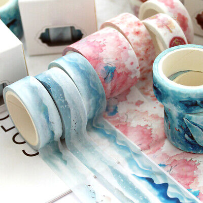 3PCS Japanese Styles Washi Tape Scrapbooking DIY Paper Masking Sticker DIY Decor Japanese Washi Paper Tape