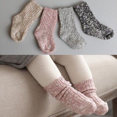 Knitted Baby Socks Soft Leg Warm Socks Newborn Toddler Ankle Length Thick Socks ()