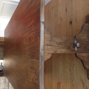 Beautiful one of a kind rustic white oak harvest table