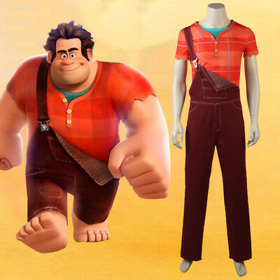 New Wreck-It Ralph 2 Ralph Breaks the Internet Cosplay Costume Outfit Full Set - Wreck It Ralph Outfit
