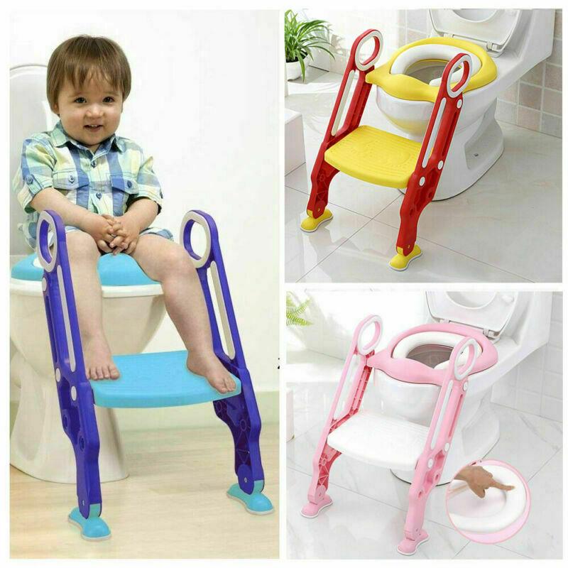 Kinder Toilettentrainer Mit Treppe Weiche Mat WC Lerntöpfchen Toilettensitz Baby