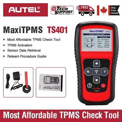 Autel MaxiTPMS TS401 TPMS Tire Pressure Sensors Activate and Decode Tool Scanner