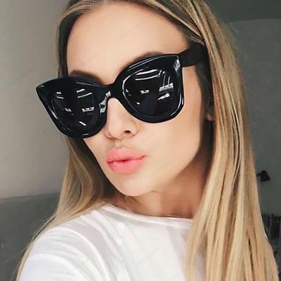 Kim Kardashian Cat Eye Fashion Oversized Top Flat Celine Black Women (Kardashian Cat Eye Sunglasses)