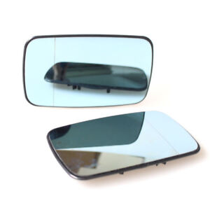 2x Side Mirror Glass For BMW E39/E46 320i 330i 325i 525i Tinted Heat LH/RH Part