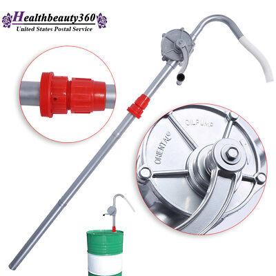 Manual Crank Rotary Pump Oil Fuel Transfer Suctin Drum Barrel 55Gallon Aluminum 55 Gallon Drum Pump