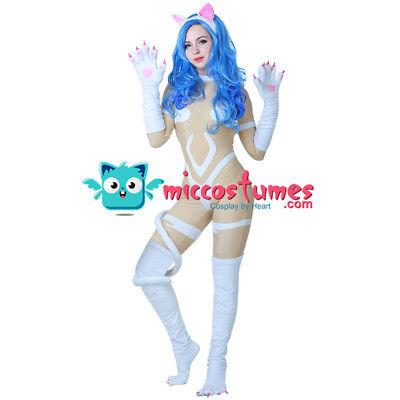 Darkstalkers Felicia Cosplay Costume Women Jumpsuit Bodysuit Tail](Felicia Halloween Costume)