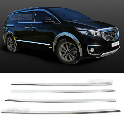 Chrome Door Side Skirt Sill Cover Molding Protect 4Pcs for KIA 2015-2017 Sedona