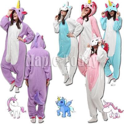 Adult Kids Unisex Animal Onesie1 Cosplay Costume Unicorn Tenma Kigurumi Pajamas