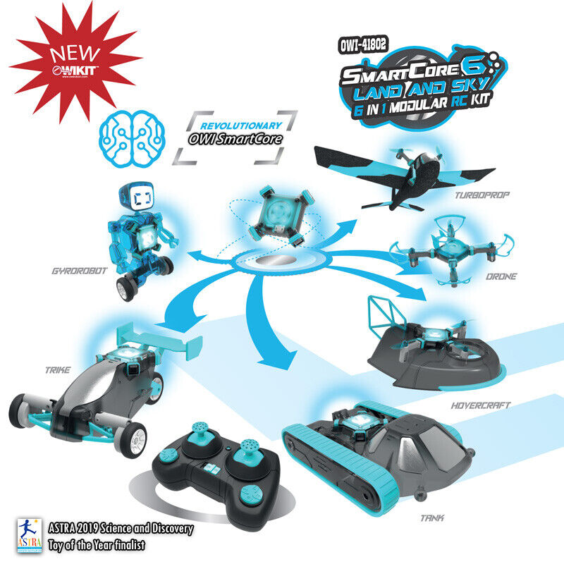 SmartCore 6 Separate Models RC Kit - Three Land Vehicles and Three Sky Vehicles 1