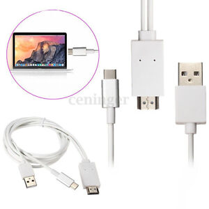 USB 3.1 Type C to HDMI 1080P Converter Adapter Cable Powered