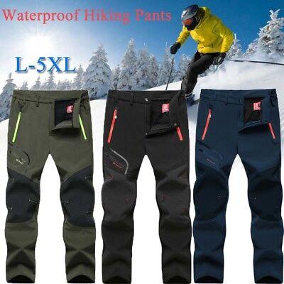 Men Winter Outdoor Waterproof Hiking Camping Climbing Skiing Fishing Pants L-5XL
